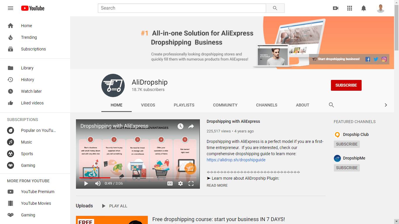 Как запустить канал YouTube для вашего бизнеса? AliDropship отвечает!