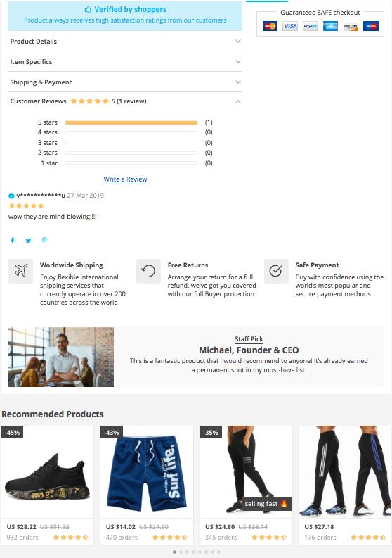Выгодная тема интернет-магазина с акцентом на 100% продаж