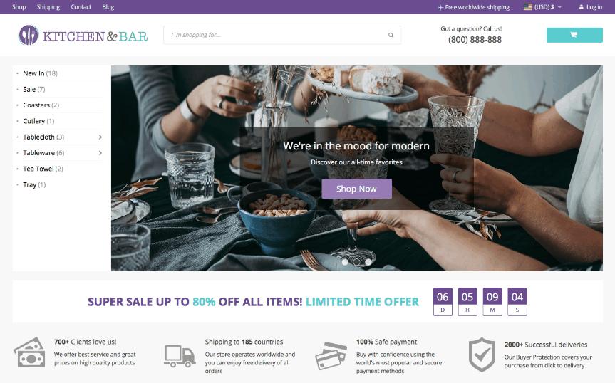 ПЕРВАЯ бесплатная тема Doopshipping WooCommerce от AliDropship
