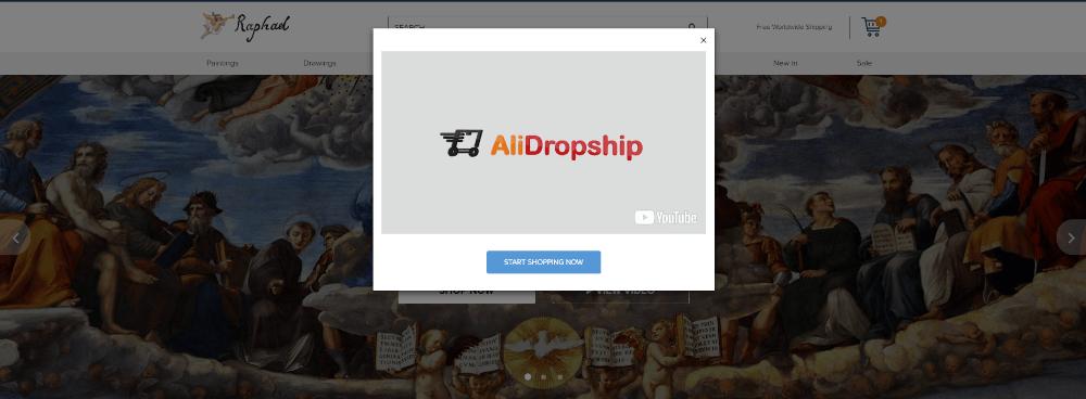 Создать сайт Dropship с новой темой Рафаэля