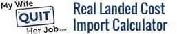 Калькулятор импорта реальной стоимости товаров