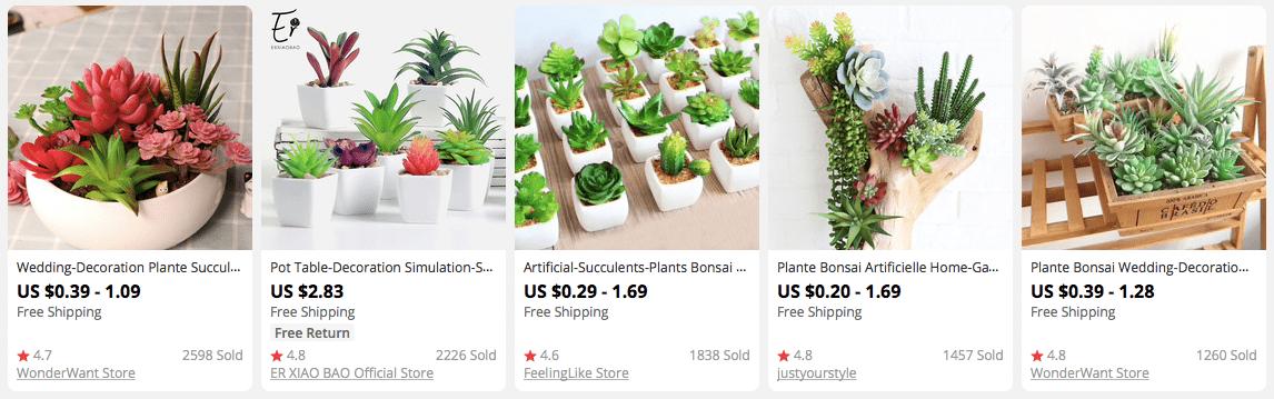 Продукты с высокой прибылью на AliExpress дешевле, чем $ 3