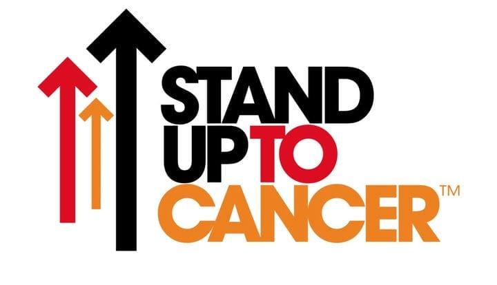 Пример дизайна логотипа Stand Up to Cancer
