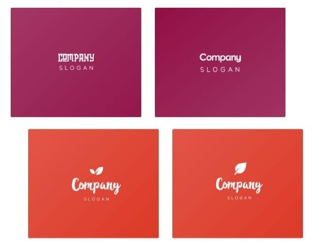 Примеры вариаций дизайна логотипа