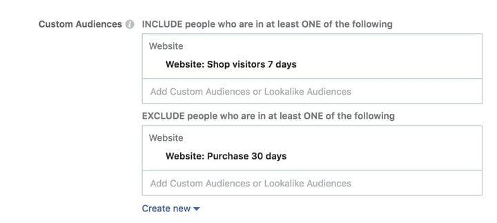 Аудитория ретаргетинга рекламы в Facebook