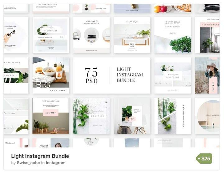 Шаблон Whitespace Instagram