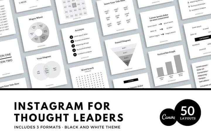 Шаблон Instagram для лидеров мысли