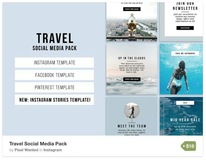 Шаблон путешествия Instagram