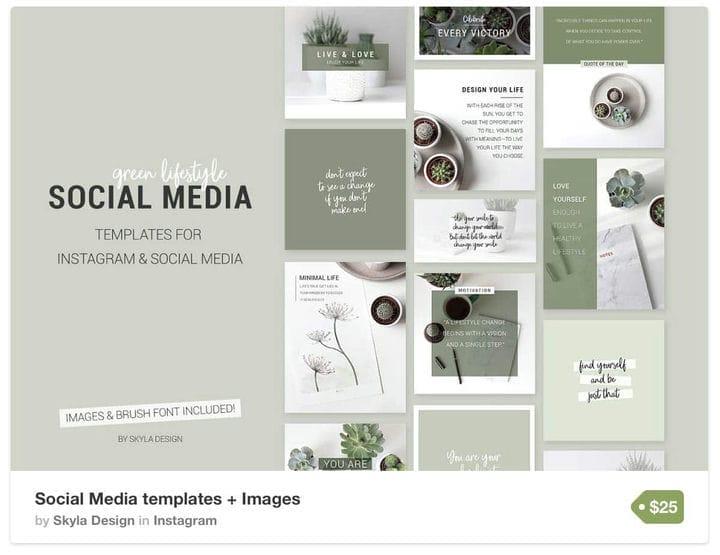 Шаблон Instagram Green Space
