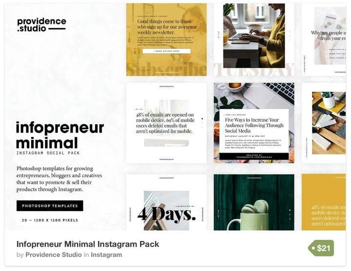 Шаблон Infopreneur Instagram