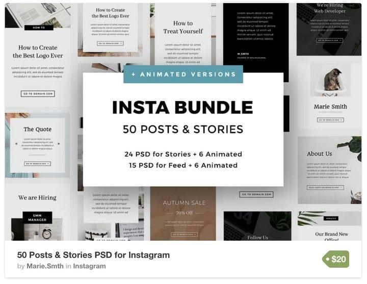 Окончательный набор шаблонов Instagram