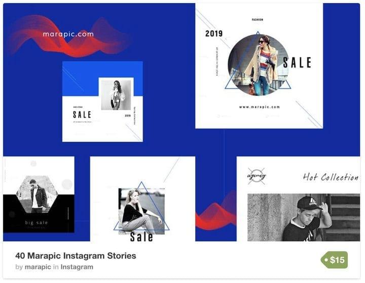 Геометрический шаблон Instagram