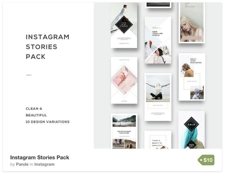 Шаблон геометрических историй Instagram