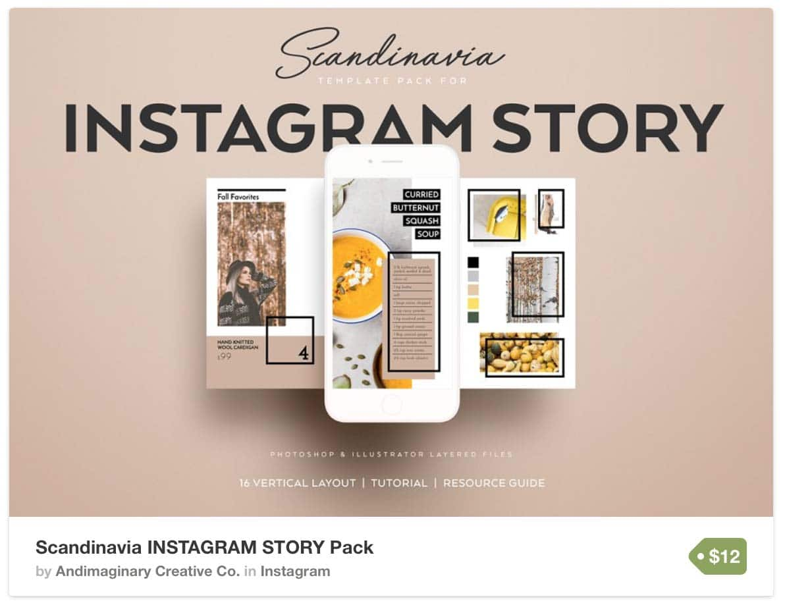 Шаблон Whitespace Instagram Stories