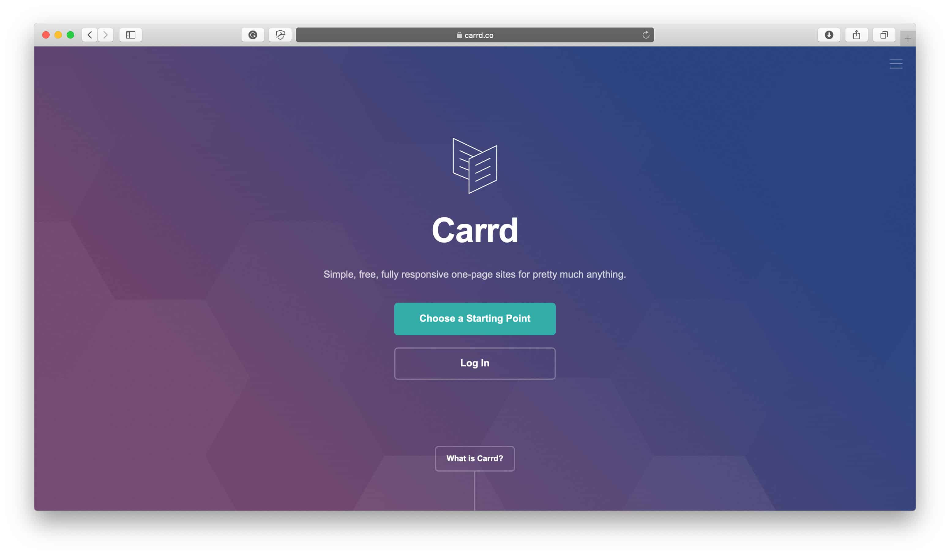 Carrd Easy Landing Page Maker