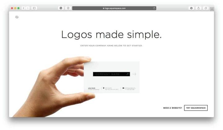 Генератор логотипов Squarespace