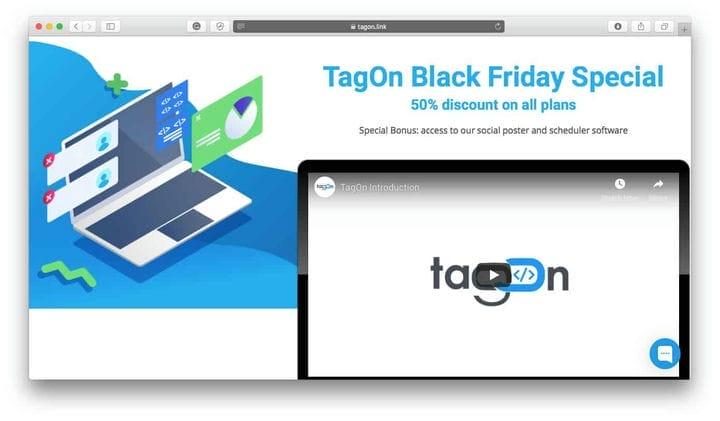 TagOn Black Friday Deals 2018