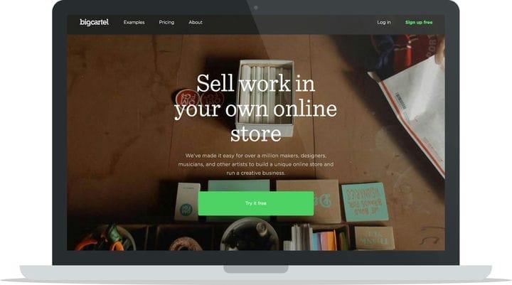 Платформа электронной коммерции BigCartel для авторов