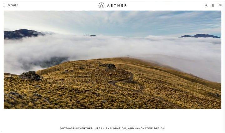Дизайн сайтов электронной коммерции Aether