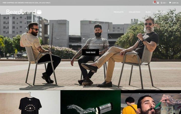 Дизайн веб-сайта электронной коммерции Beardbrand