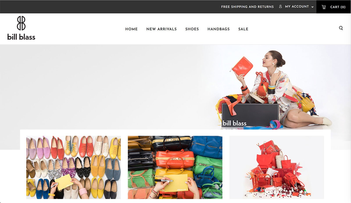 Дизайн веб-сайта электронной коммерции Bliss Blass