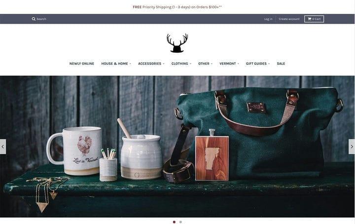 Дизайн веб-сайта электронной коммерции Commandeer