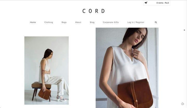 Cord Дизайн веб-сайта электронной коммерции