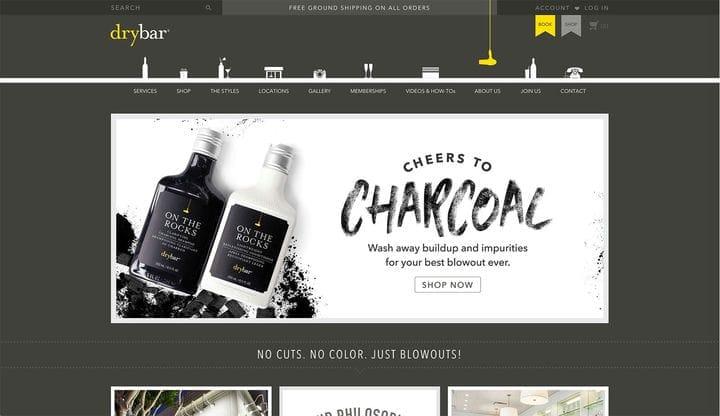 Дизайн сайтов электронной коммерции Drybar