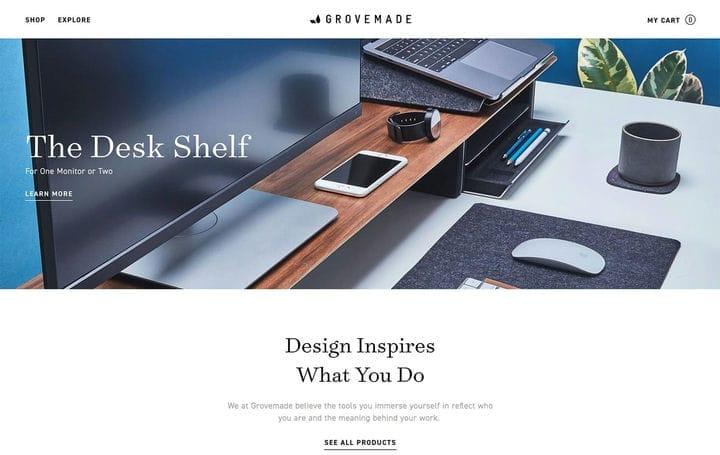 Дизайн веб-сайта электронной коммерции Grovemade