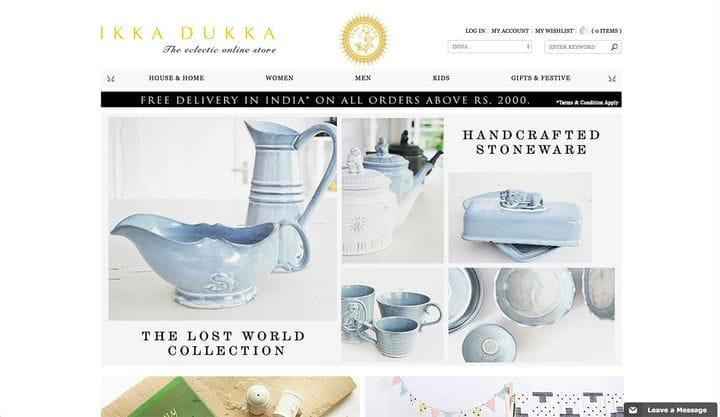 Ikka Dukka Дизайн веб-сайта электронной коммерции