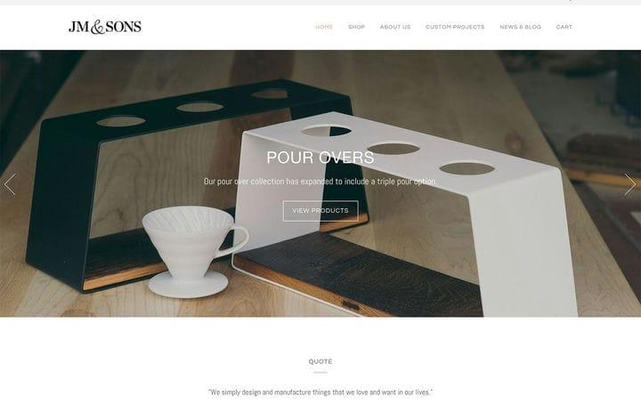 Дизайн веб-сайтов электронной коммерции JM & Sons