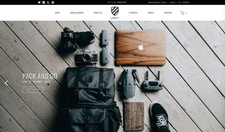 Дизайн веб-сайтов электронной коммерции Langly