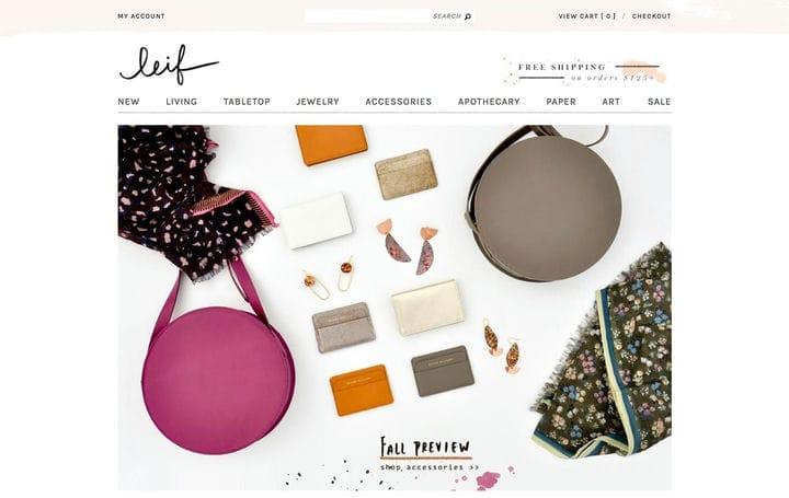 Дизайн веб-сайтов электронной коммерции Leif