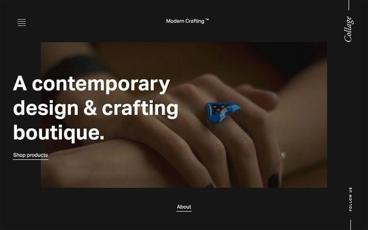 Современный дизайн веб-сайта электронной коммерции