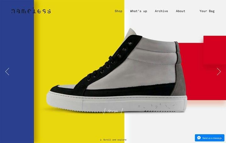 Безымянный дизайн сайта электронной коммерции