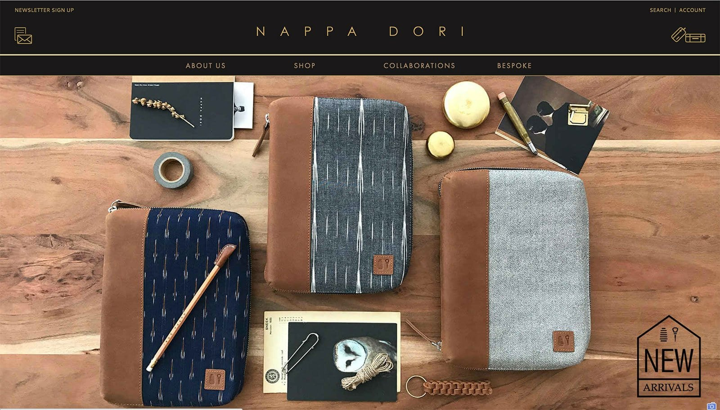Дизайн веб-сайта электронной коммерции Nappa Dori