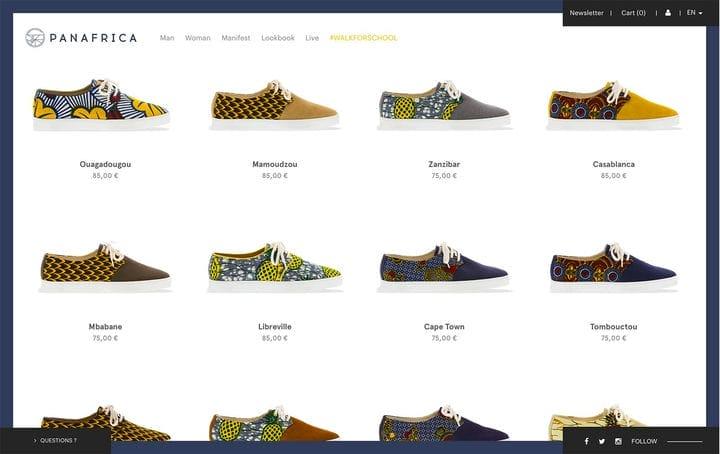 Дизайн веб-сайта электронной коммерции PanAfrica
