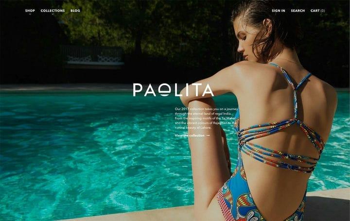 Дизайн веб-сайта электронной коммерции Paolita