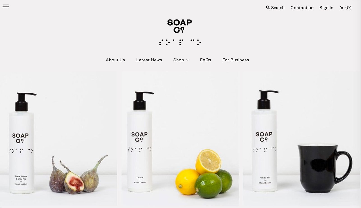 Дизайн веб-сайта электронной коммерции Soap Co.