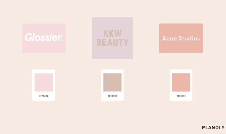 Цвета логотипа бренда Millienial Pink