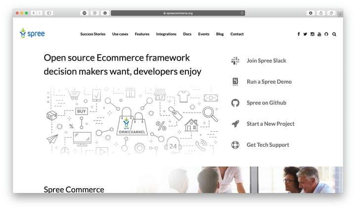 Решение для электронной коммерции SpreeCommerce