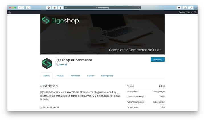 Решение JigoShop для электронной коммерции