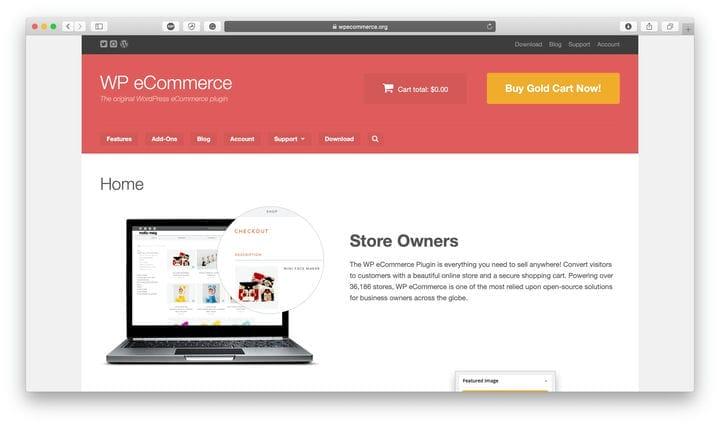 Платформа с открытым исходным кодом WPECommerce