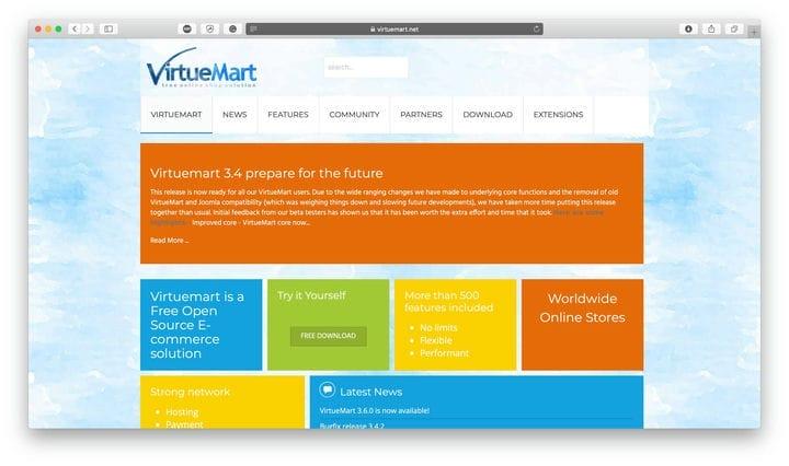 Платформа электронной коммерции с открытым исходным кодом VirtueMart