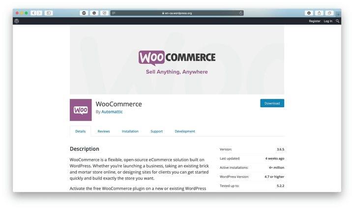 Плагин WooCommerce WordPress
