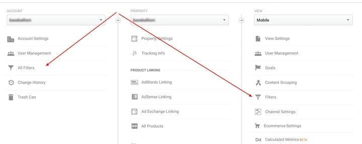 Применение фильтров в Google Analytics