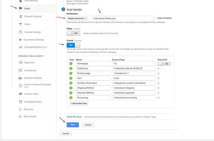 Как установить цель в Google Analytics