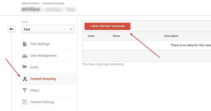 Групповой контент в Google Analytics