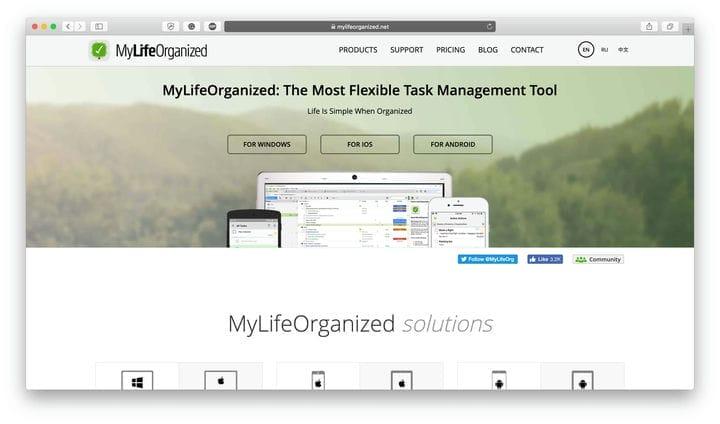MyLifeOrganized Лучшие приложения для управления временем