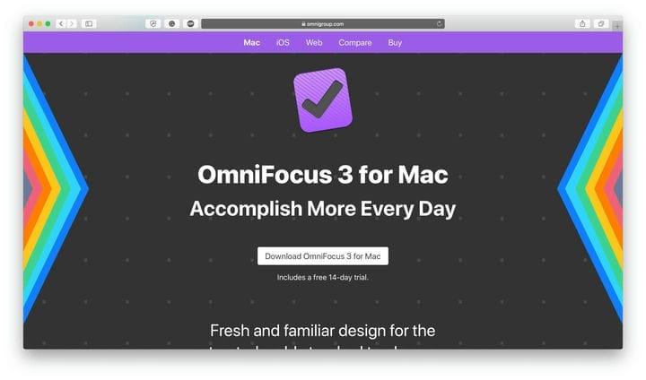Приложение для повышения производительности OmniFocus